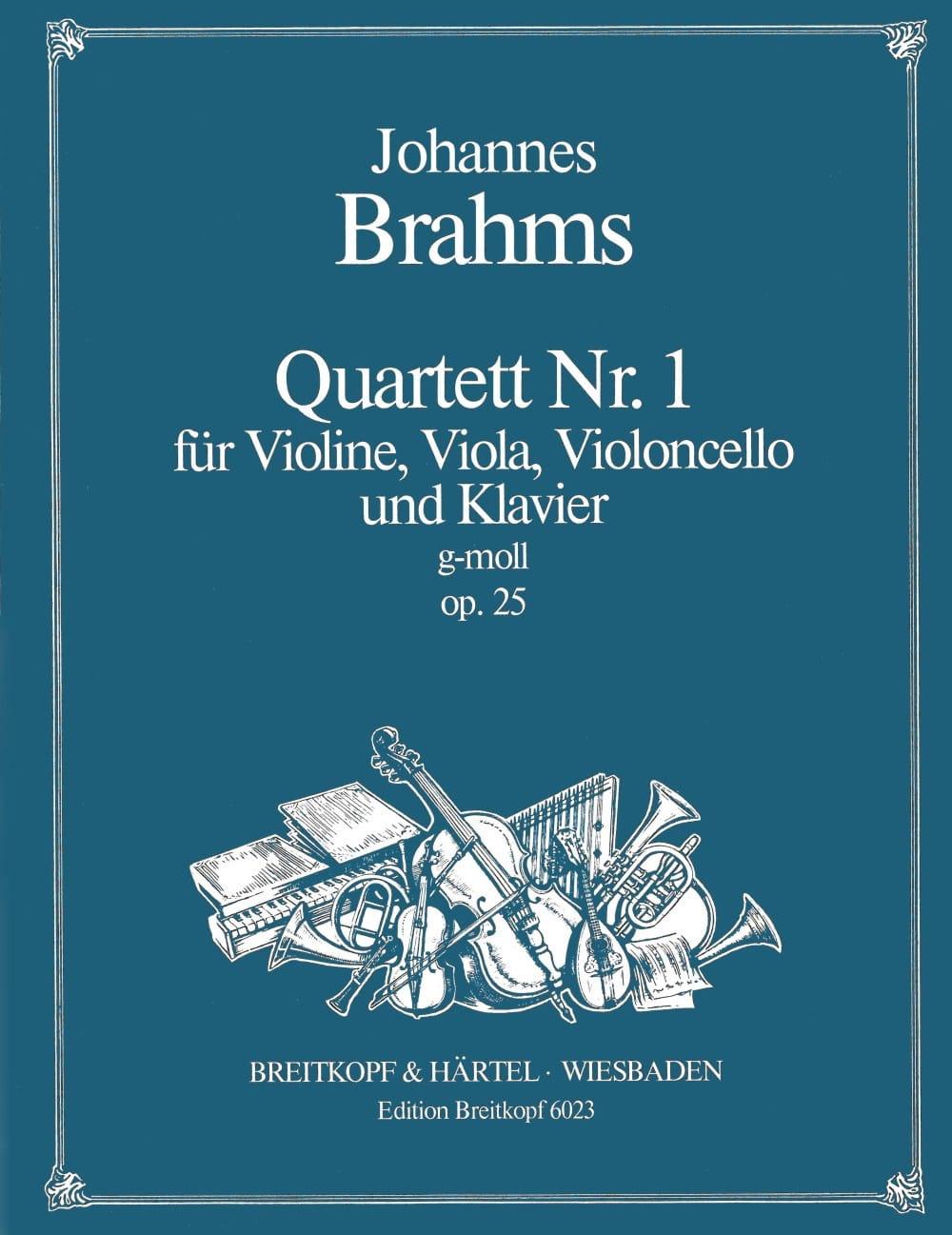 BRAHMS - Klavierquartett Nr. 1 g-moll op. 25 - Stimmen - Partition - di-arezzo.com