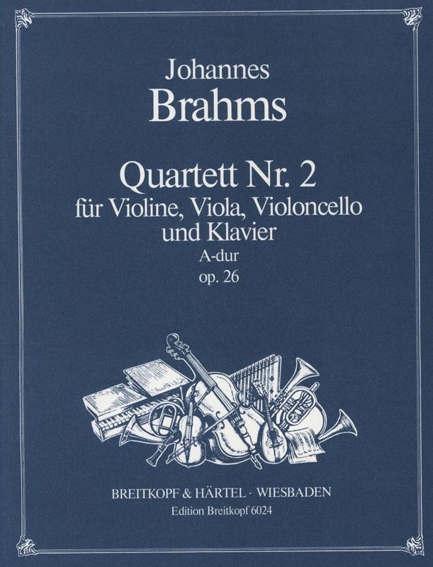 BRAHMS - Klavierquartett Nr. 2 A-Dur op. 26 - Stimmen - Partition - di-arezzo.com