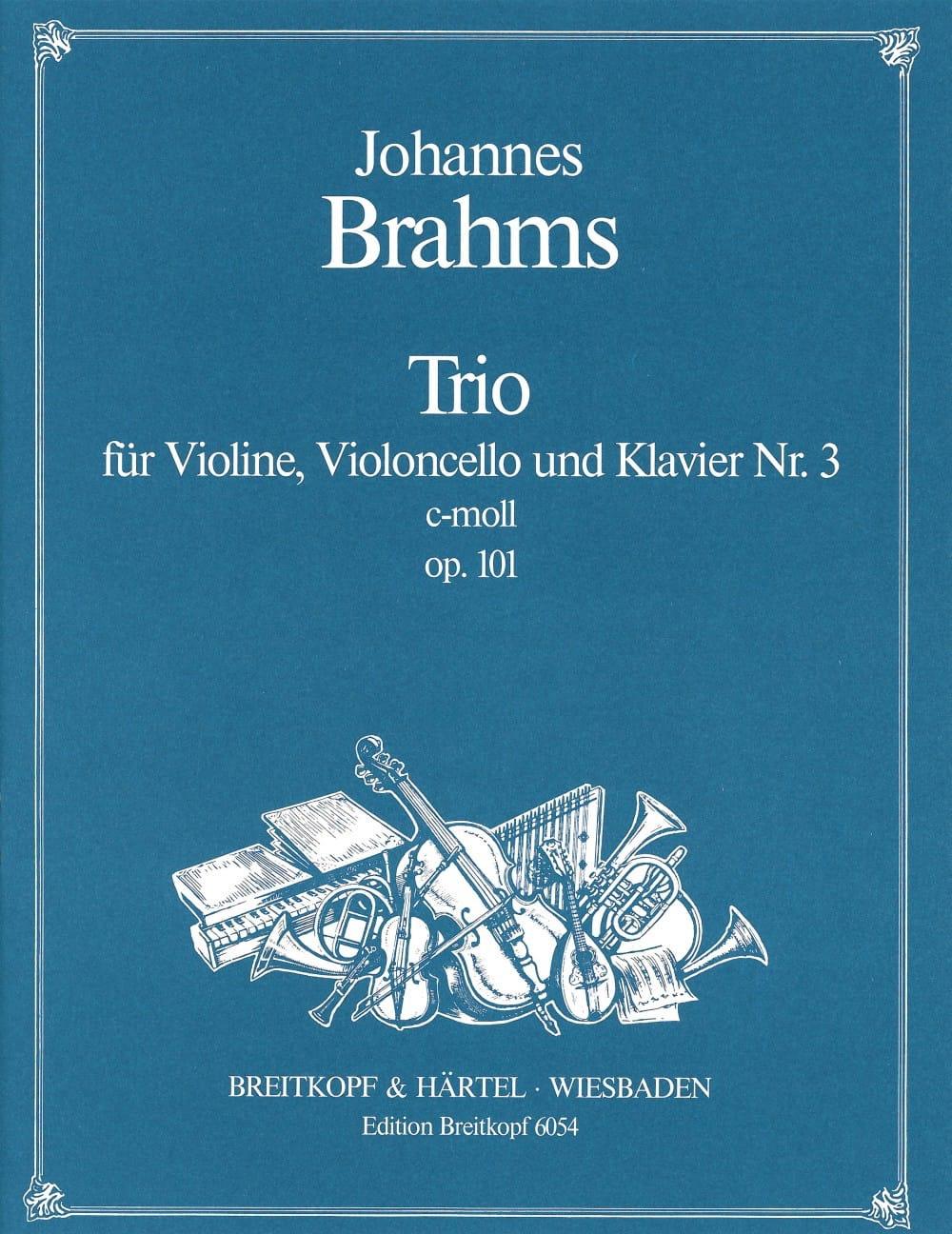 BRAHMS - Klaviertrio Nr. 3 c-moll op. 101 - Stimmen - Partition - di-arezzo.co.uk