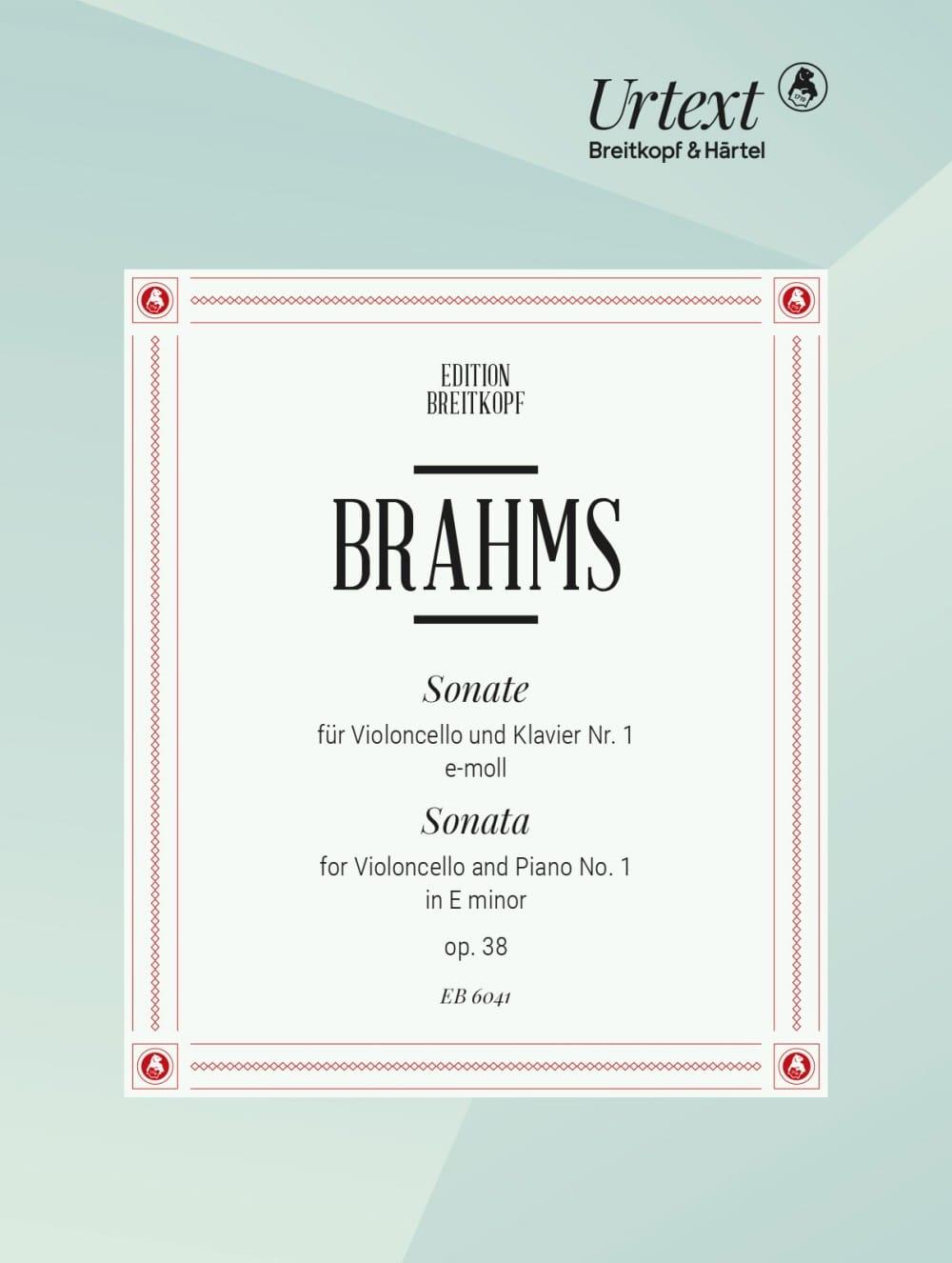 BRAHMS - Sonata No. 1 E-Moll op. 38 - Partition - di-arezzo.es
