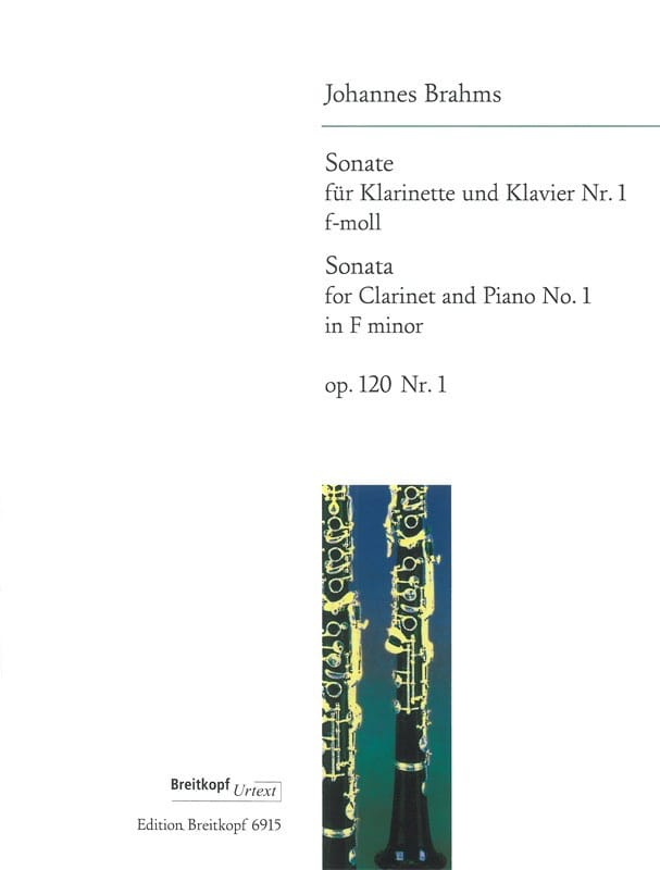 BRAHMS - Sonata Nr. 1 f-moll op. 120/1 - Klarinette Klavier - Partition - di-arezzo.es