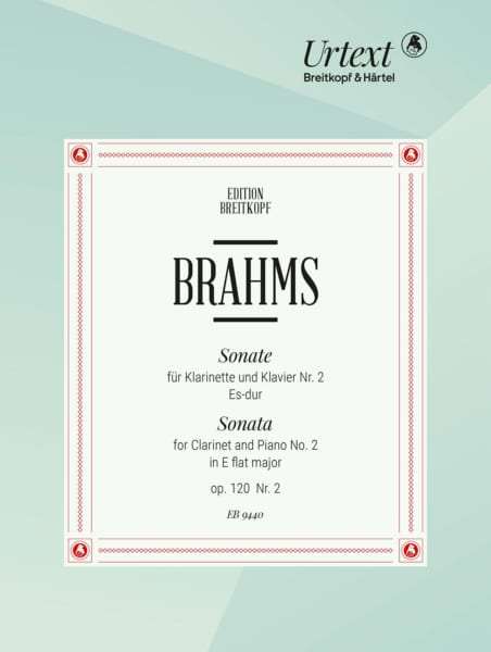 BRAHMS - Sonata No. 2 Es-Dur Op. 120/2 - Klavier Klarinette - Partition - di-arezzo.com