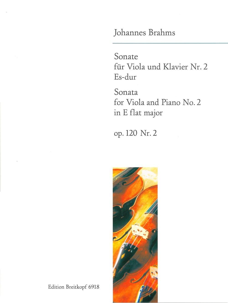 BRAHMS - Sonate n° 2 Es-dur, op. 120 n° 2 - Partition - di-arezzo.fr