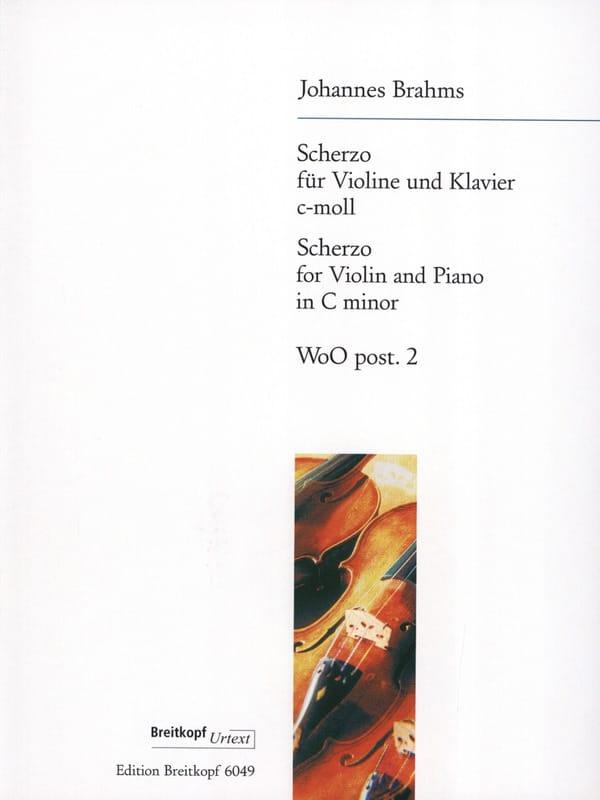 BRAHMS - Scherzo C-Moll, WoO post. 2 - Partition - di-arezzo.com