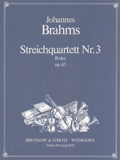 BRAHMS - Streichquartett B-Dur op. 67 - Stimmen - Partition - di-arezzo.co.uk