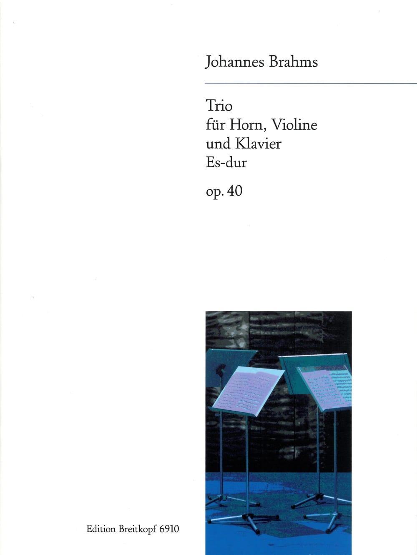Trio Es-Dur op. 40 -Horn Violine Klavier - BRAHMS - laflutedepan.com