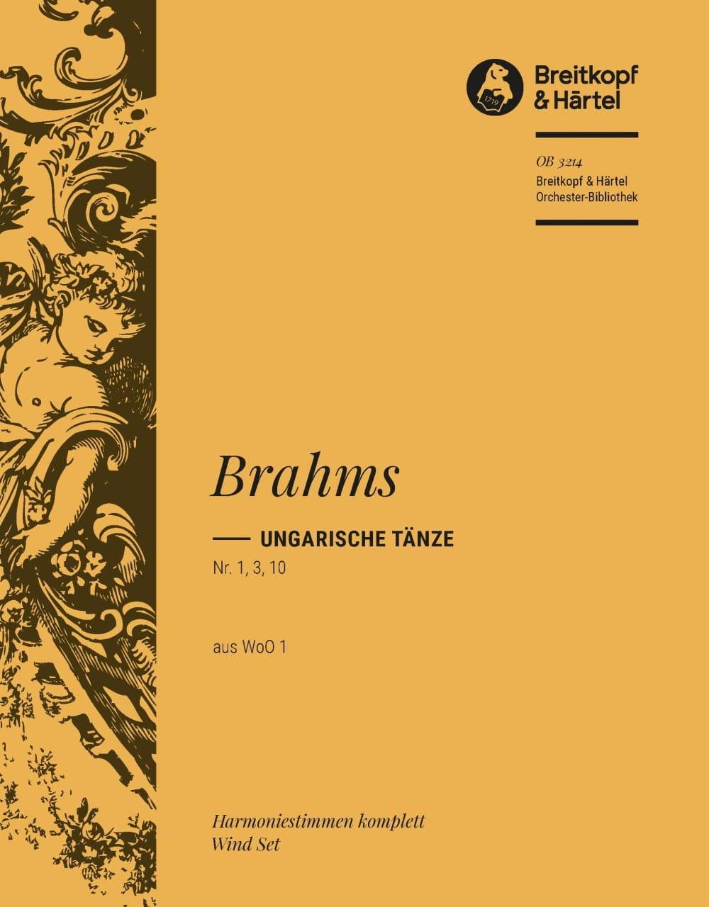 Ungarische Tänze, Nr. 1, 3, 10 - BRAHMS - Partition - laflutedepan.com