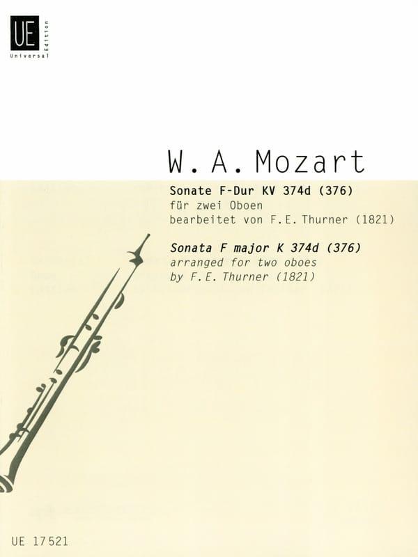 MOZART - F-Dur Sonata KV 374d 376 - 2 Oboen - Partition - di-arezzo.com