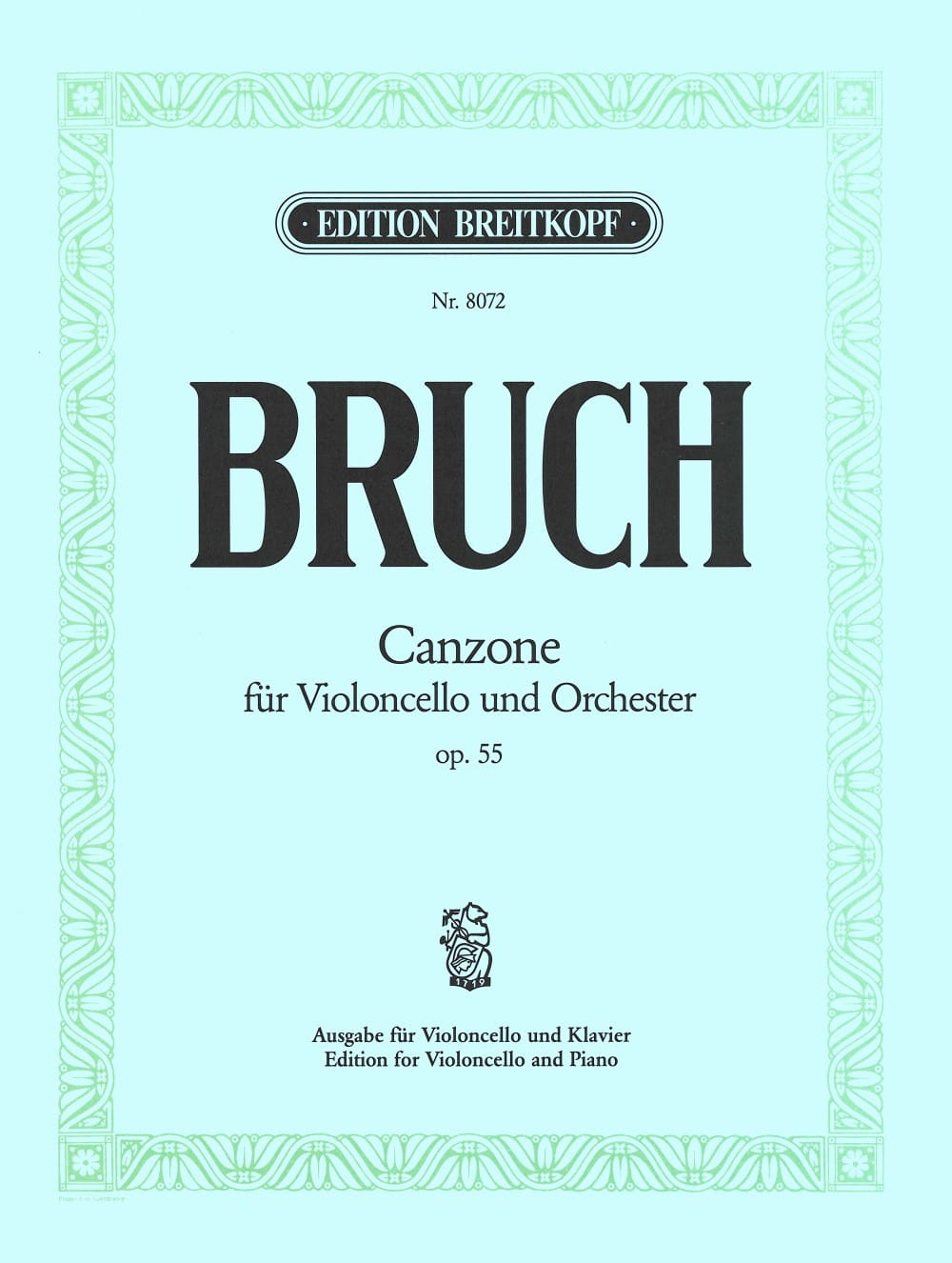 Max Bruch - Canzone op. 55 - Partition - di-arezzo.co.uk