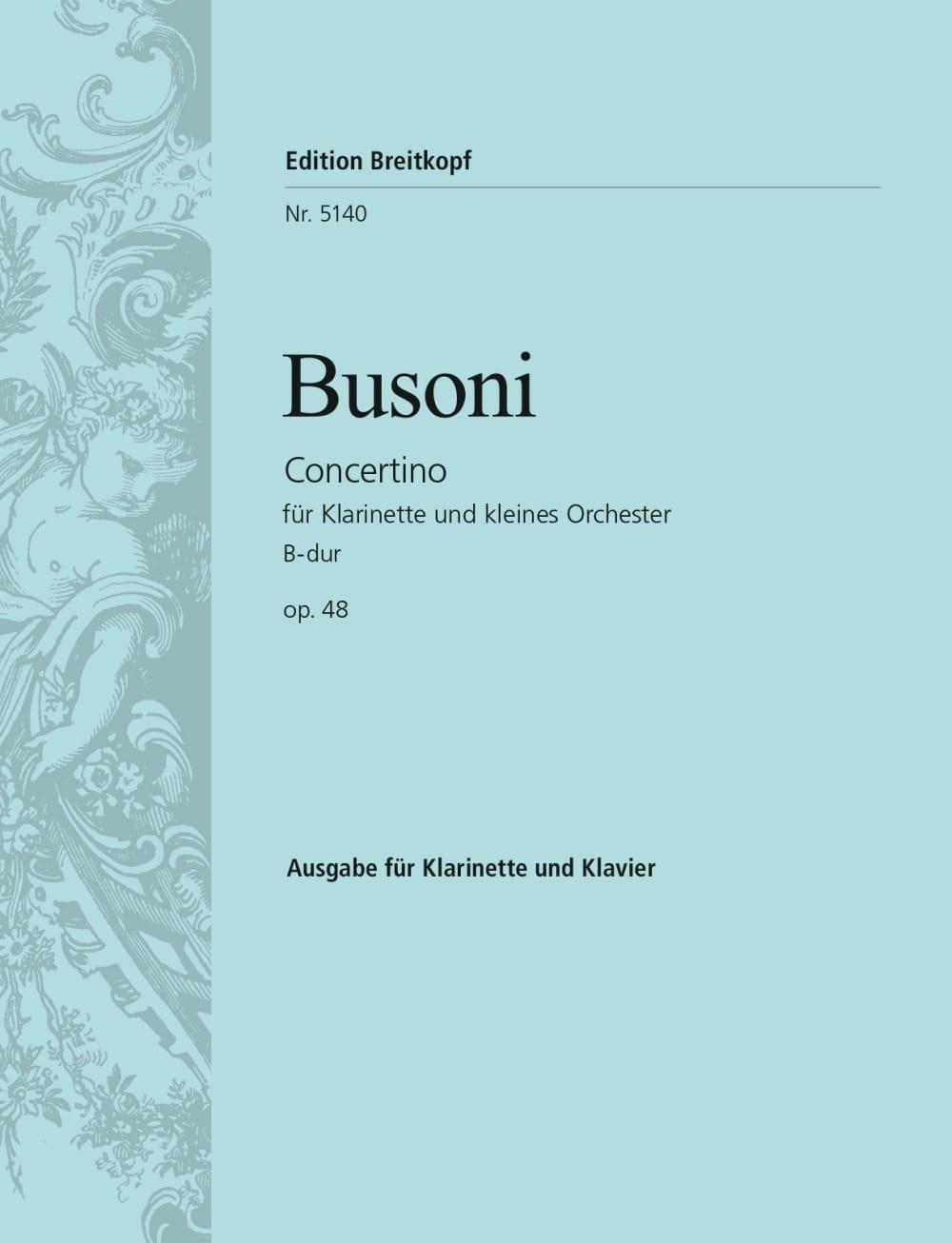 Ferruccio Busoni - Concertino B-Dur op. 48 - clarinet - Partition - di-arezzo.com