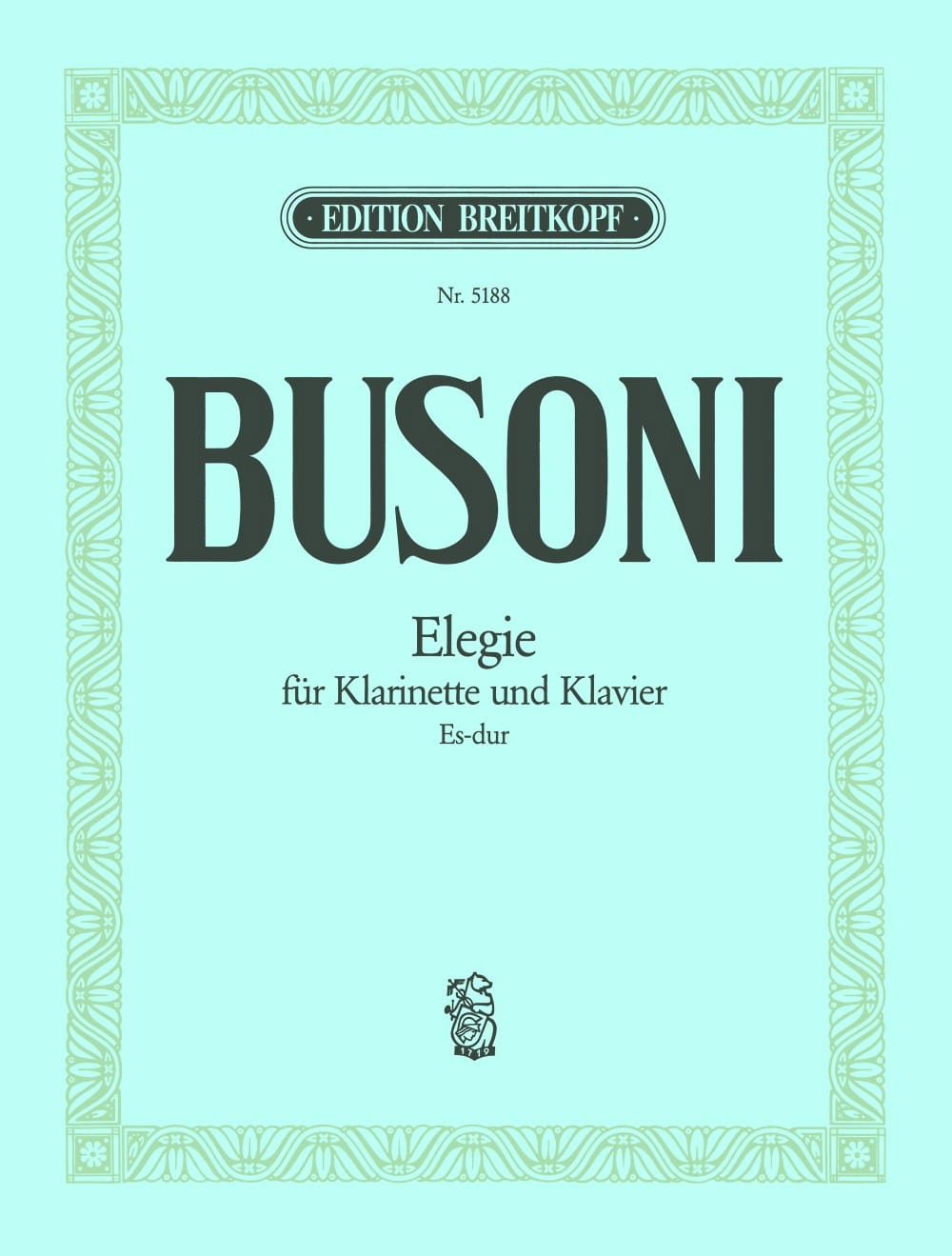 Ferruccio Busoni - Elegie Es-Dur- Klarinette Klavier - Partition - di-arezzo.com