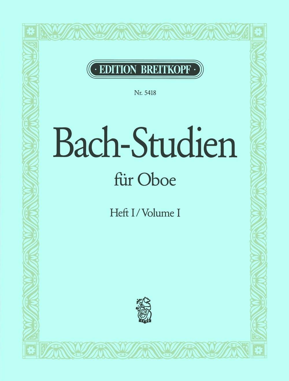 BACH - Bach-Studien für Oboe - Heft 1 - Partition - di-arezzo.com