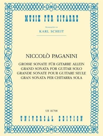Grande Sonate - PAGANINI - Partition - Guitare - laflutedepan.com