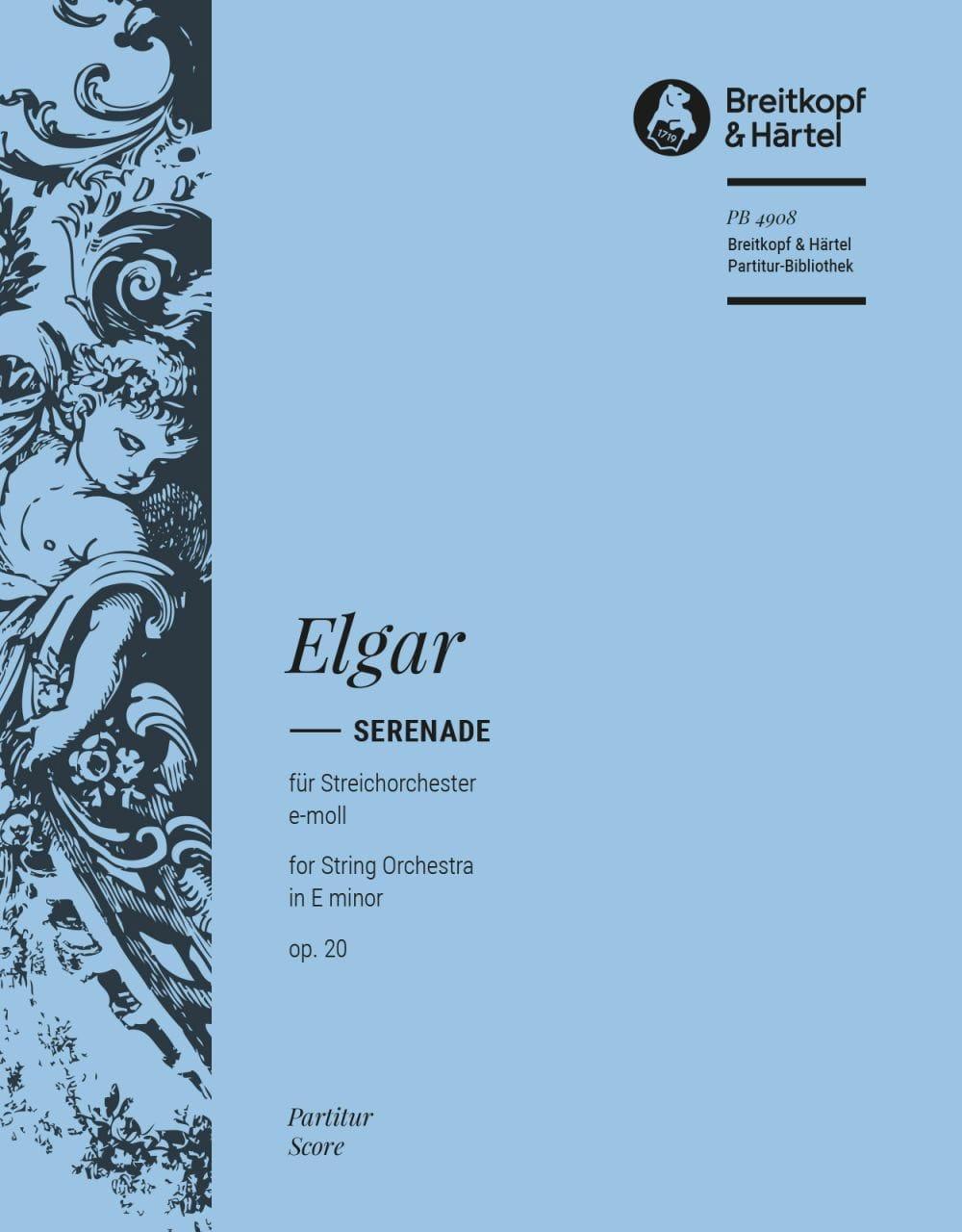 Serenade e-Moll, op. 20 - Partitur - ELGAR - laflutedepan.com