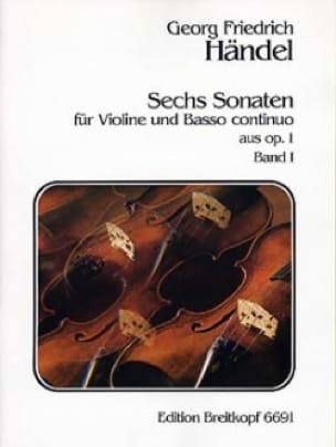 6 Sonaten op. 1, Volume 1 - HAENDEL - Partition - laflutedepan.com