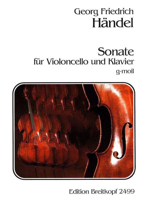 Sonate g-moll - HAENDEL - Partition - Violoncelle - laflutedepan.com