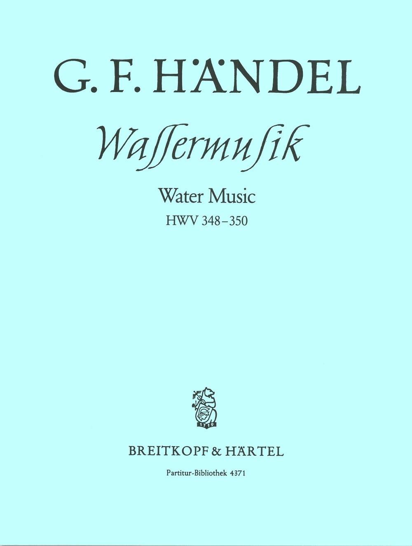 Wassermusik F-Dur HWV 348-350 - Partitur - HAENDEL - laflutedepan.com