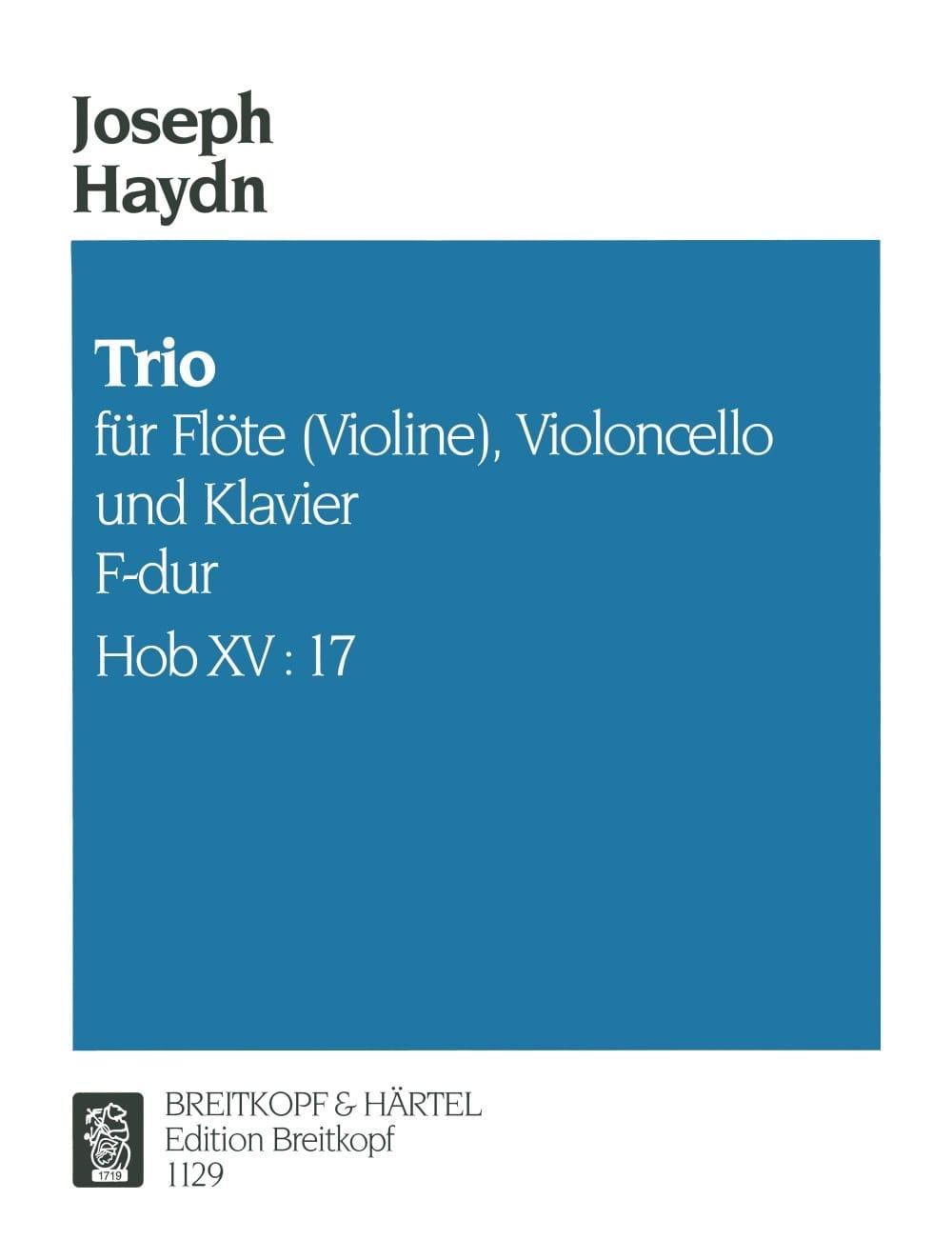 Trio F-Dur Hob. 15 n° 17 -Flöte Violine Violoncello Klavier - laflutedepan.com