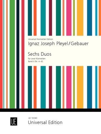 Pleyel Ignaz / Gebauer - 6 Duos für 2 Klarinetten - Bd. 2 Nr. 4-6 - Partition - di-arezzo.co.uk