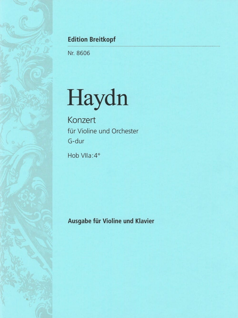 HAYDN - Violin Concerto in G Major Solo. 7a: 4 - Partition - di-arezzo.com