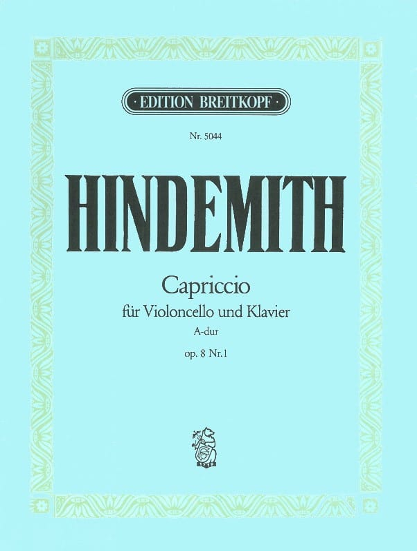Capriccio la majeur, op. 8 n° 1 - HINDEMITH - laflutedepan.com