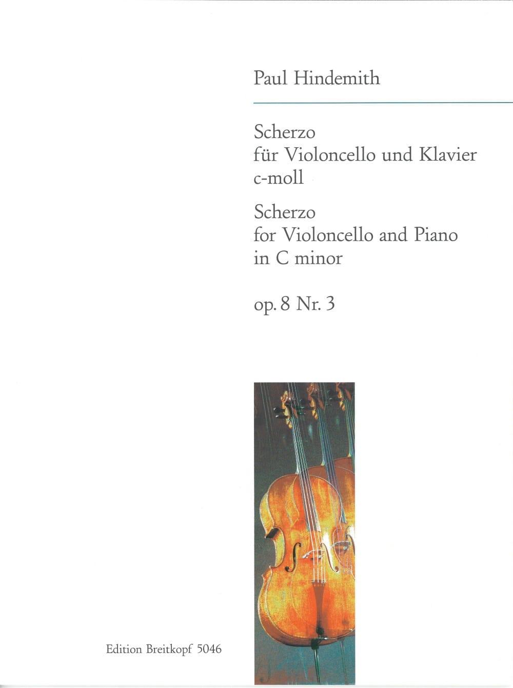 Scherzo c-moll op. 8 n° 3 - HINDEMITH - Partition - laflutedepan.com