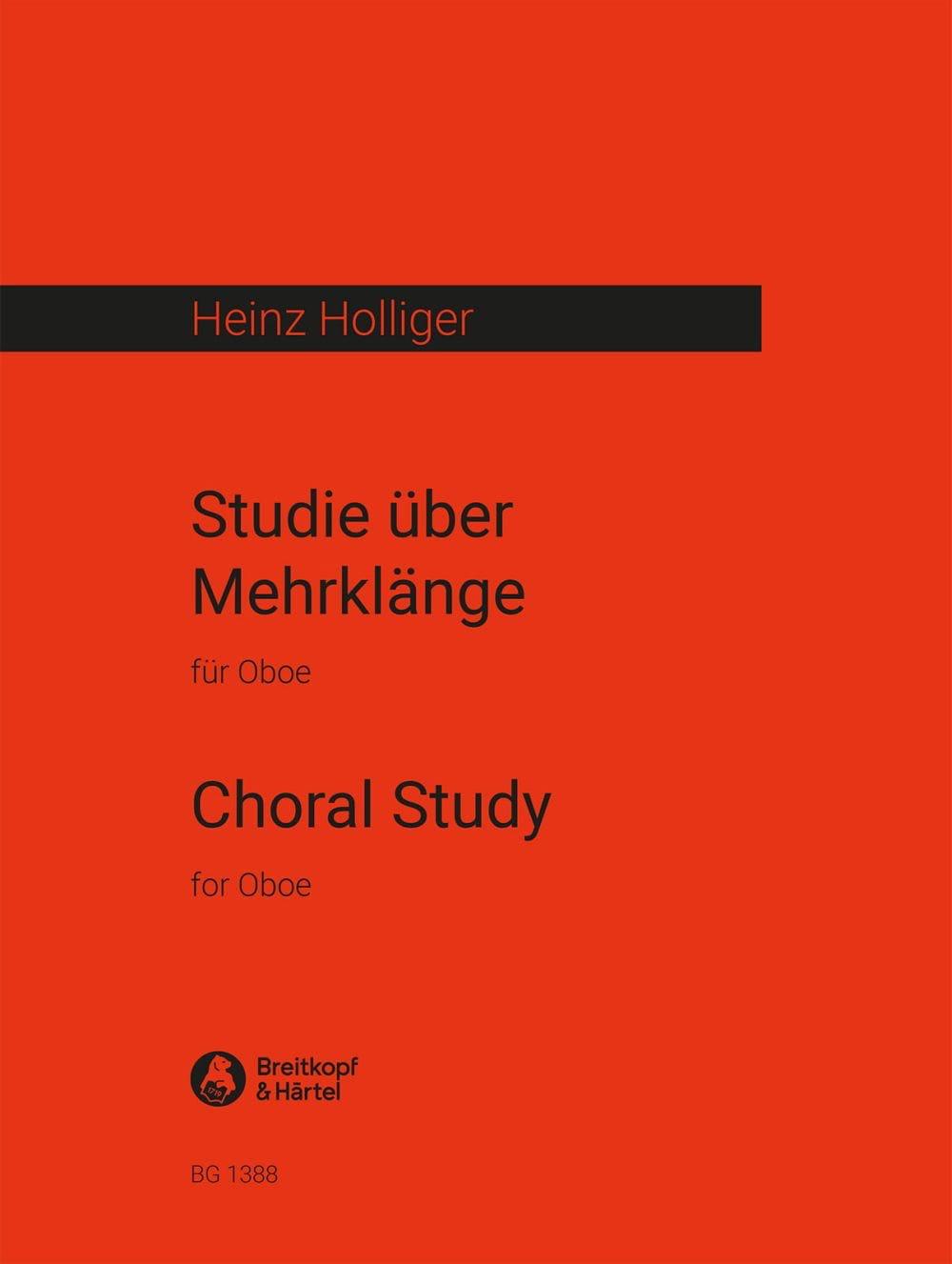 Studie über Mehrklänge - Heinz Holliger - Partition - laflutedepan.com