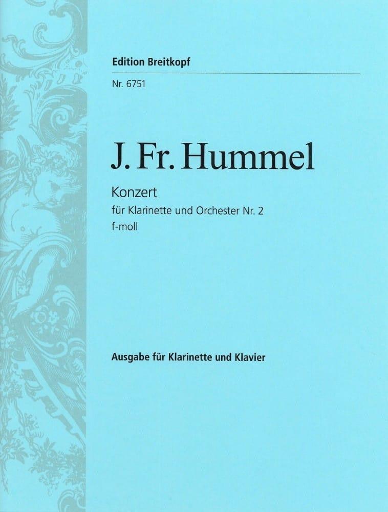 Klarinettenkonzert Nr. 2 f-moll - Klarinette Klavier - laflutedepan.com