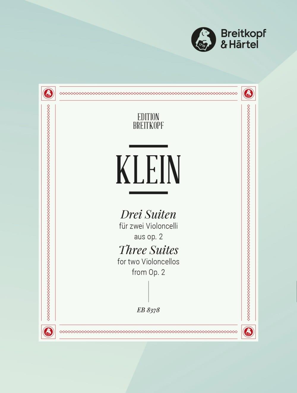 3 Suiten aus op. 2 - 2 Violoncelles - Jacob Klein - laflutedepan.com