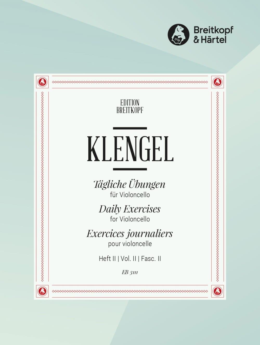Tägliche Übungen - Heft 2 - Julius Klengel - laflutedepan.com