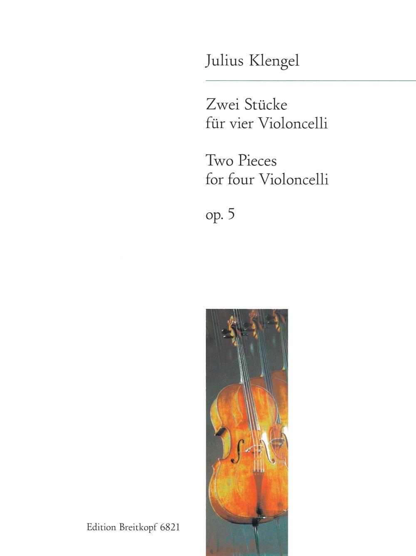 Zwei Stücke op. 5 - 4 Violoncelli - Julius Klengel - laflutedepan.com