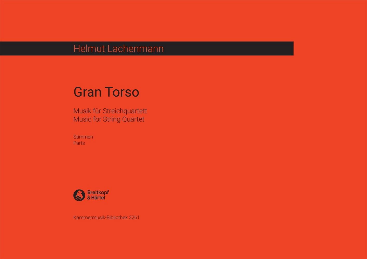 Gran Torso -Stimmen - Helmut Lachenmann - laflutedepan.com