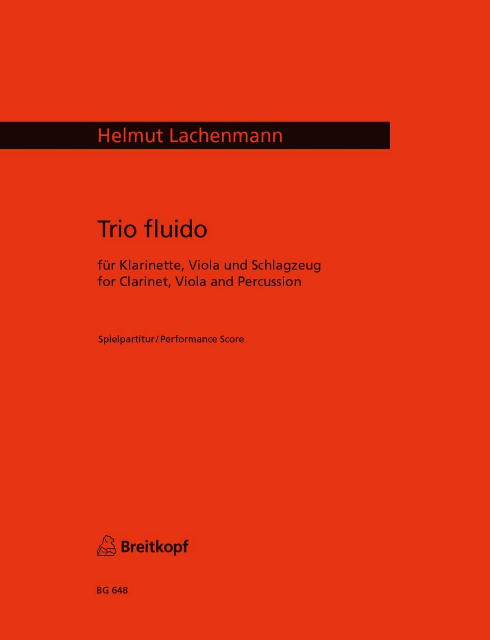 Trio Fluido - Helmut Lachenmann - Partition - laflutedepan.com