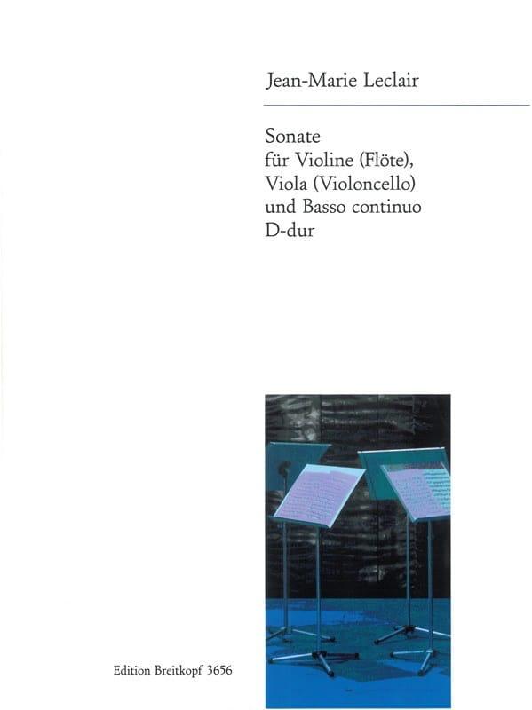 Sonate D-Dur -Violine Viola u. Bc - LECLAIR - laflutedepan.com