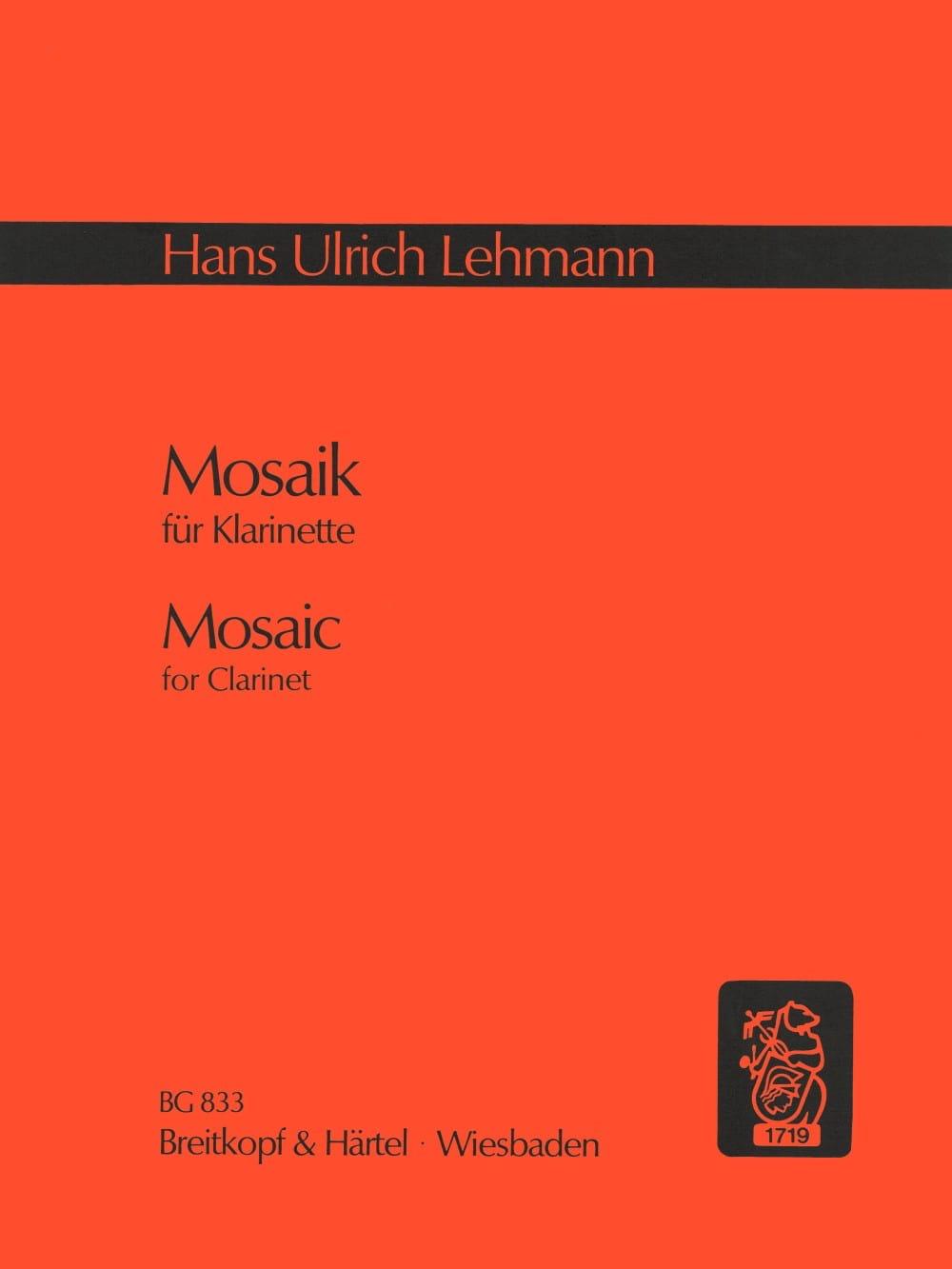 Mosaik - Hans Ulrich Lehmann - Partition - laflutedepan.com