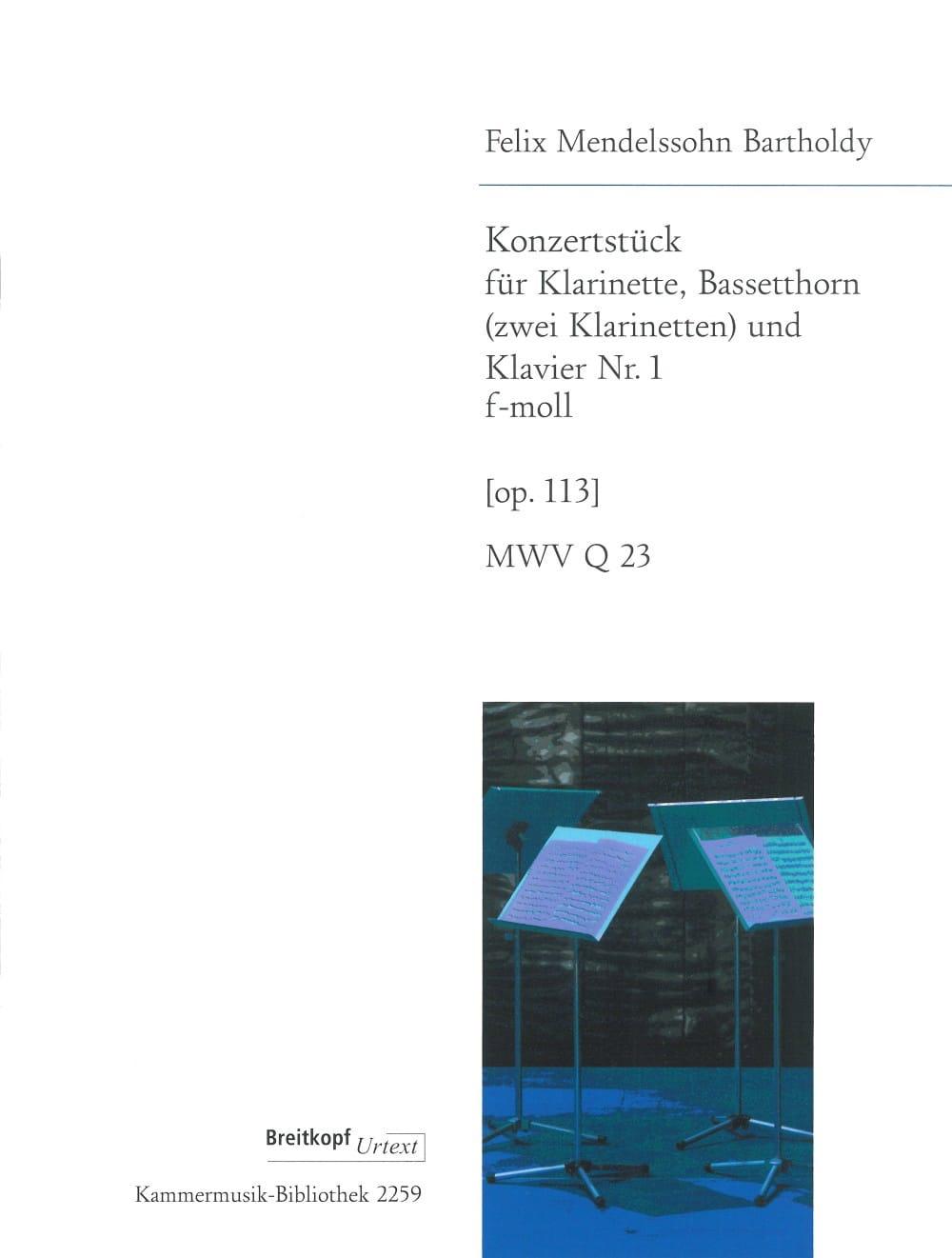 Konzertstück F-Moll Fa Min. Op. 113 - 2 Clarinettes-Piano - laflutedepan.com