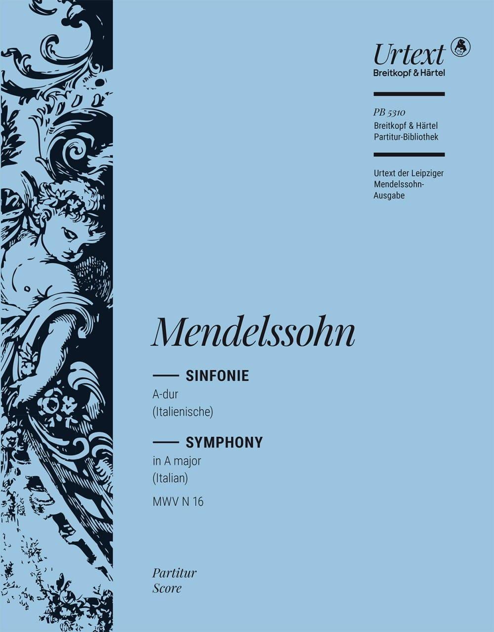 MENDELSSOHN - Symphonie Nr. 4 A-Dur op. 90 - Partitur - Partition - di-arezzo.fr