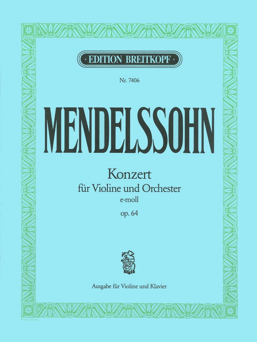 MENDELSSOHN - Violin Concerto op. 64 E minor - Partition - di-arezzo.co.uk