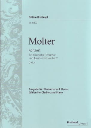 Klarinettenkonzert Nr. 2 D-Dur - Klarinette Klavier - laflutedepan.com