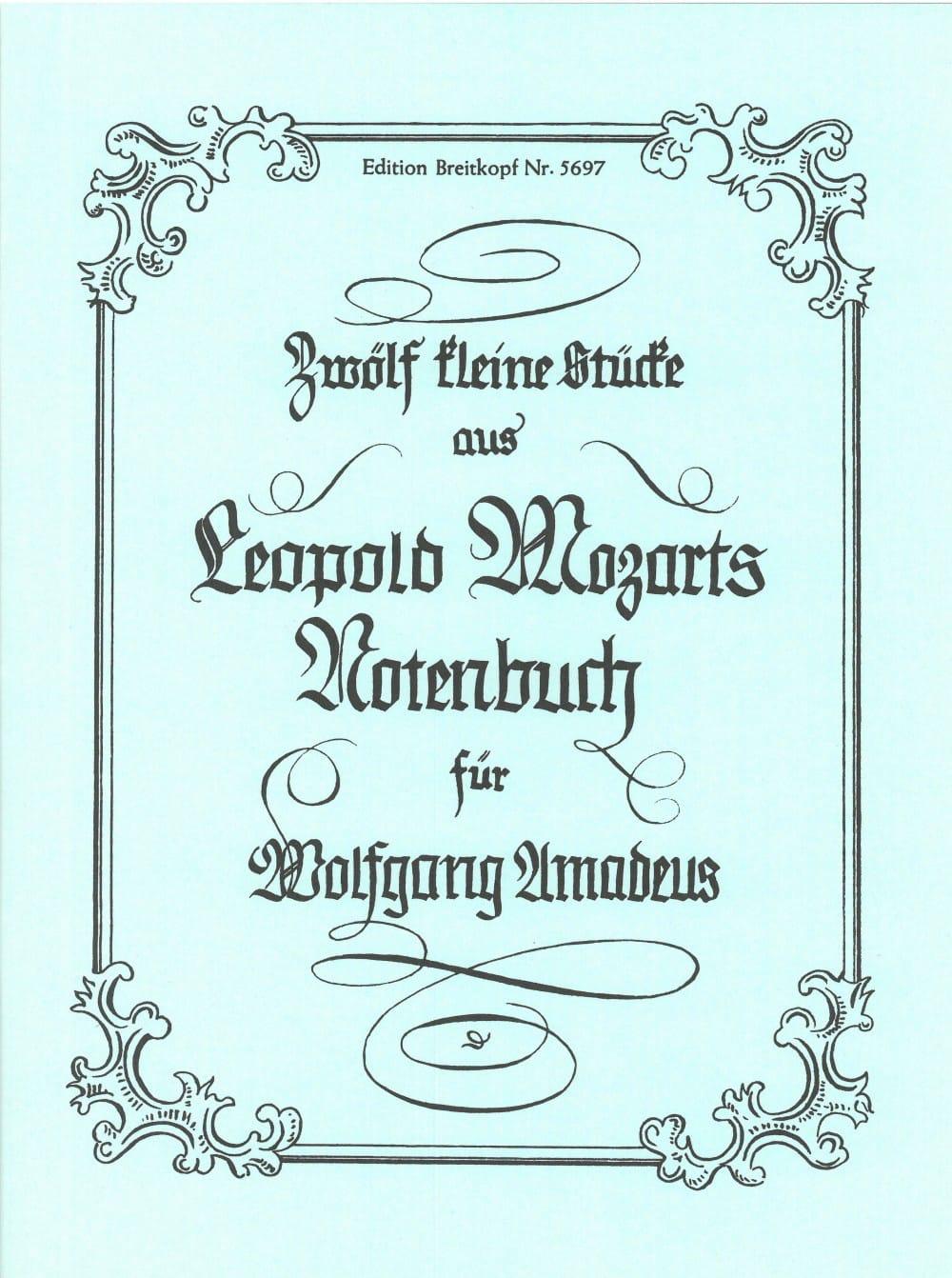 12 Kleine Stücke aus dem Notenbuch - Leopold Mozart - laflutedepan.com