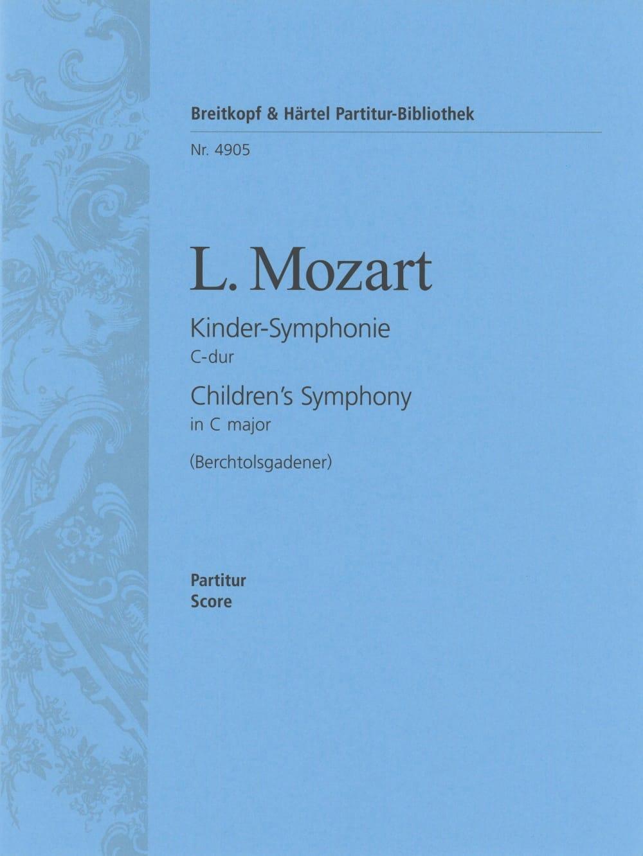 Kinder-Symphonie C-dur - Partitur - Leopold Mozart - laflutedepan.com
