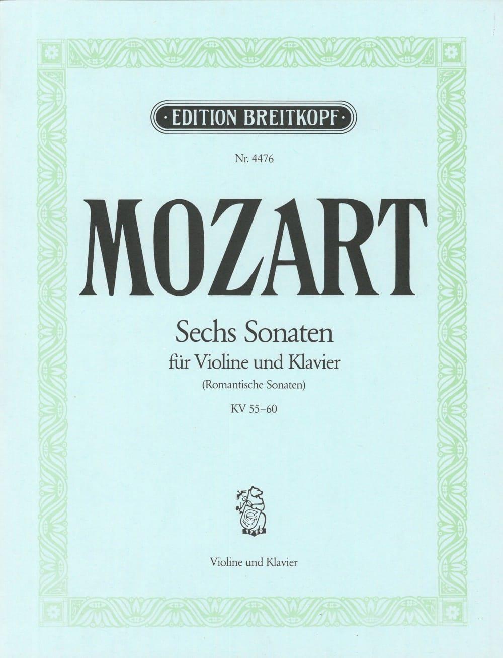 6 Sonaten KV 55-60 - MOZART - Partition - Violon - laflutedepan.com