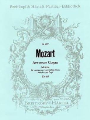 Ave verum corpus KV 618 - Partitur - MOZART - laflutedepan.com