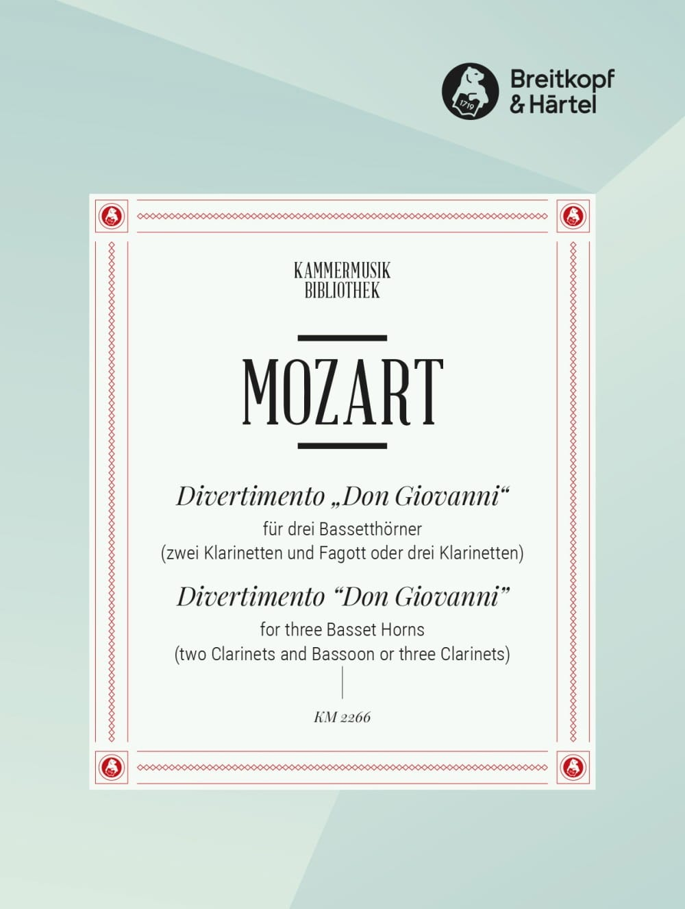MOZART - Divertimento Don Giovanni - 3 Bassetthörner 2 Klar. Fag. / 3 Klar. - Partition - di-arezzo.co.uk