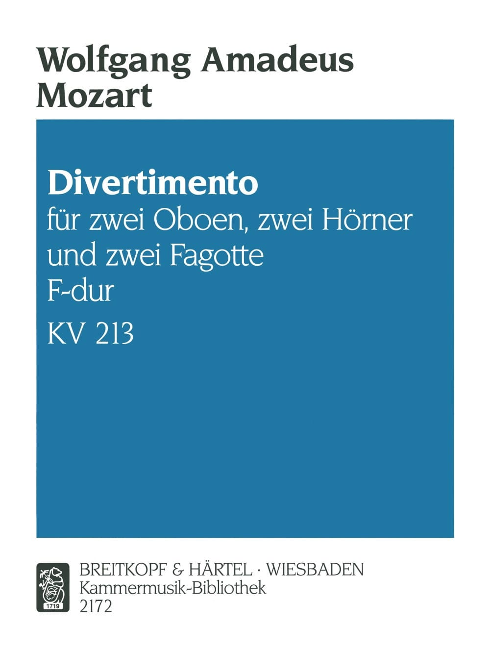 MOZART - Divertimento F-Dur KV 213 - Bläsersextett - Stimmen - Partition - di-arezzo.co.uk