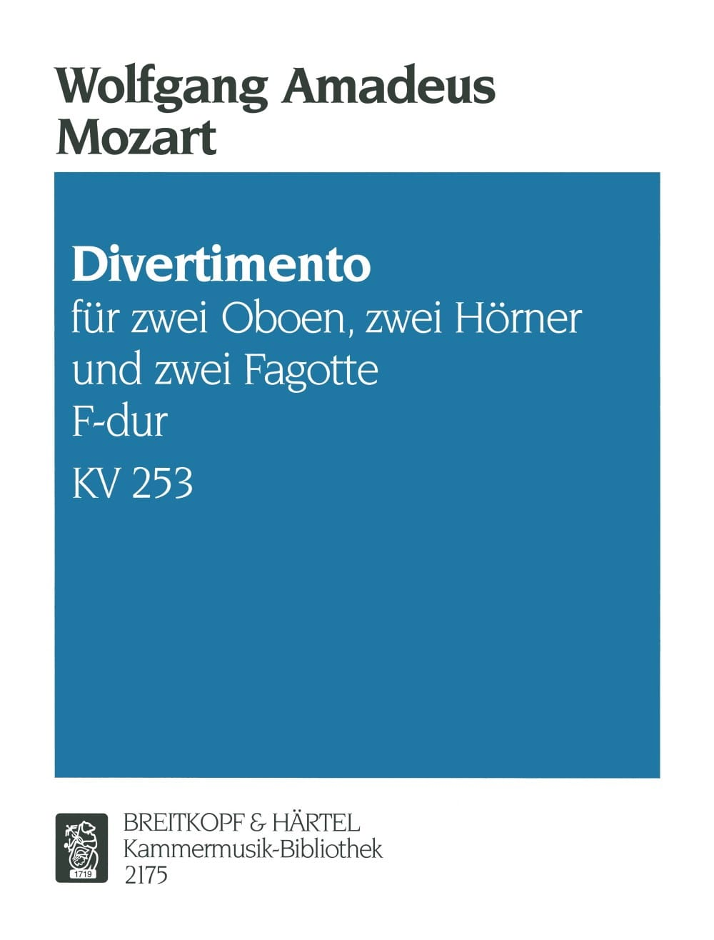 MOZART - Divertimento F-Dur KV 253 - Bläsersextett - Stimmen - Partition - di-arezzo.co.uk