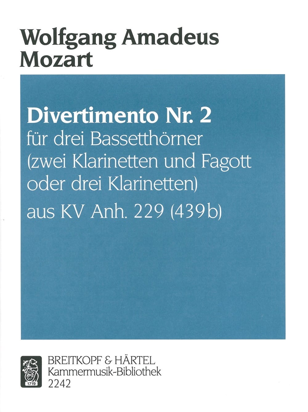 MOZART - Divertimento Nr. 2 - 3 Bassetthörner 2 Klar. Fag. / 3 Klar. - Partition - di-arezzo.co.uk