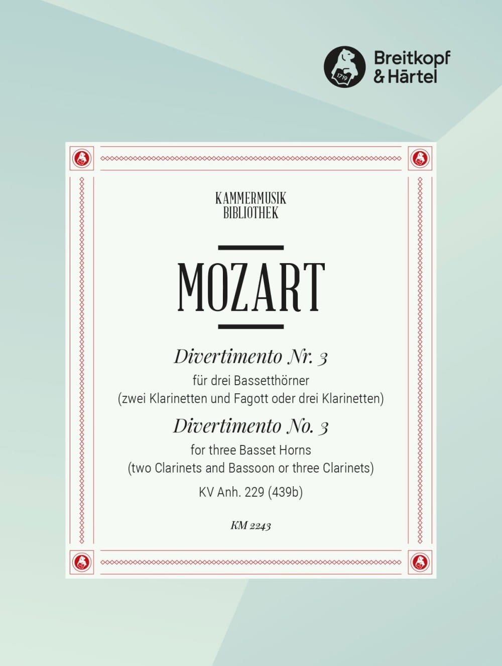 MOZART - Divertimento Nr. 3 - 3 Bassetthörner 2 Klar. Fag. / 3 Klar. - Partition - di-arezzo.co.uk