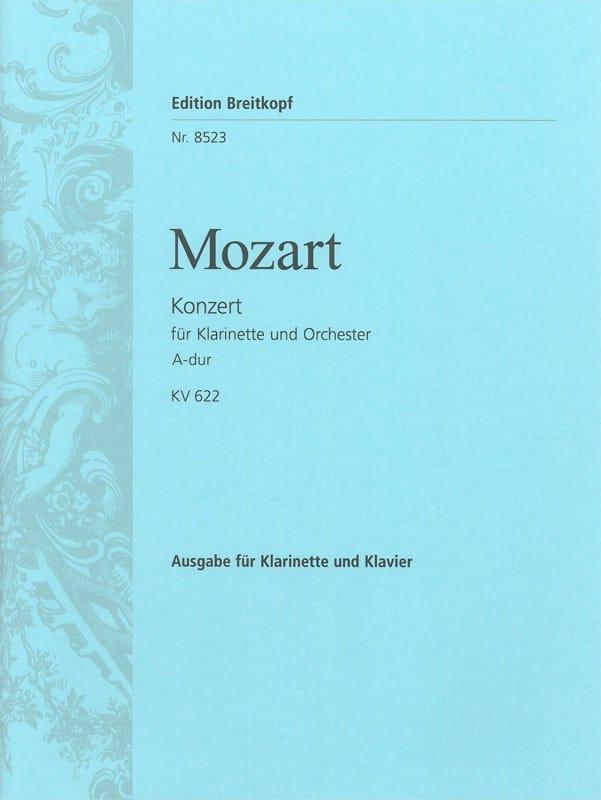 MOZART - Konzert A-Hard KV 622 - Klarinette Klavier - Partition - di-arezzo.co.uk
