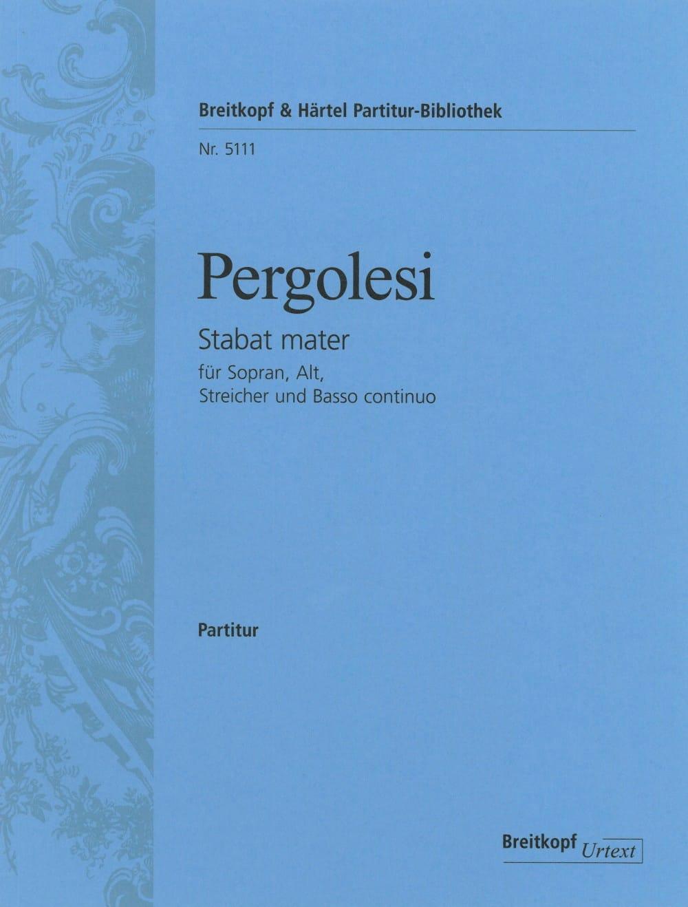 Giovanni Battista Pergolesi - Stabat Mater - Partitur - Partition - di-arezzo.co.uk